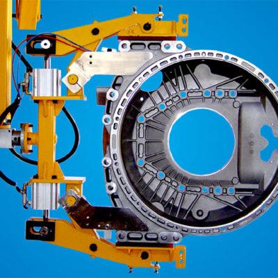 Handling Flywheel housing on 12+ machining tables