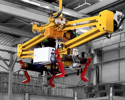 Rail mounted ElbowLIFT for smooth transfer of chassis on the assemblyline